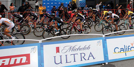 Professional cycling teams at the 12th annual Amgen Tour of California.